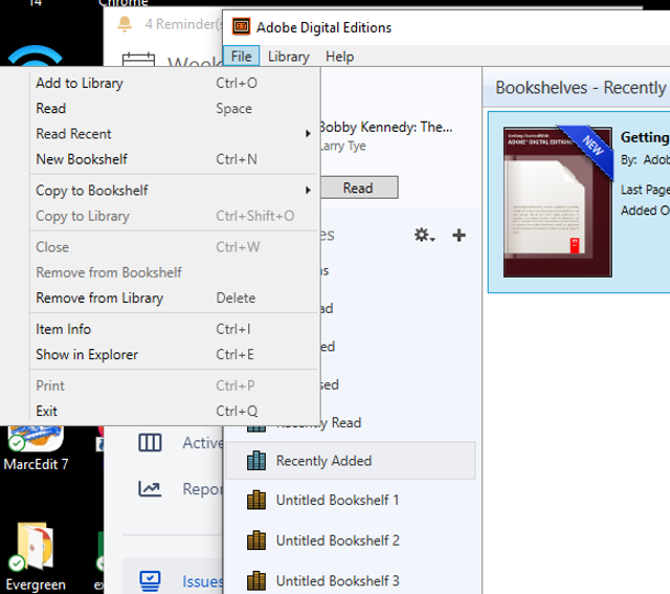 Adobe Digital Editions library